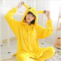 Pijama Pikachu Cosplay Adulto Pokemon Pelúcia Pronta Entrega