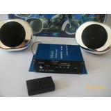 Kit De Audio Musica Para Moto: Parlantes, Potencia, Usb, Sd,
