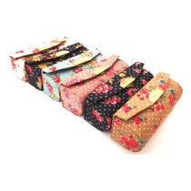 Porta Batom Bolsa Espelho Luxo Prático Make Kit 12 Unidades