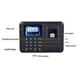 Relógio Ponto Biométrico Impressão Digital Alta Precisão