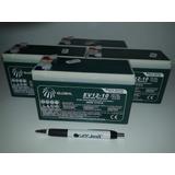 Kit 04 Baterias Gel Global 12v 10ah Ciclo Profundo 6-dzm-10