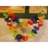Collar Hawaiano De Flores De Tela. Cotillon