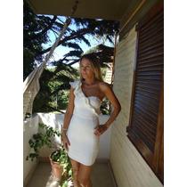 Vestido Blanco H&m Talle Xs