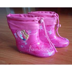 Botas Para Lluvia Agua Lodo Modelo Barbie Talla 25 En Stock