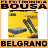 Micrófono Inalambrico Doble De Mano Skp Vhf 2671 Belgrano