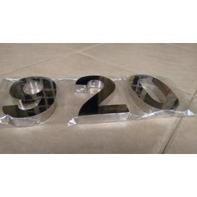 Letras E Números Em Aço Inox Espelhado Ou Escovado 10 Cm