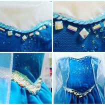 Disfraz Princesa Elsa De Frozzen + Zapatitos+coronita