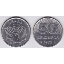Moedas 50 Cinquenta Cruzeiros Km# 594.1 1981 1982 1983 1984