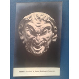 Vintage Antigua Postal De Fauno Pan Satiro Baco Greco Romana