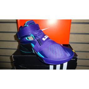 Nike Lebron Soldier 9 Morado Negro Basket Caballeros