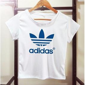 7ab6f552df56b Blusas Femeninas Con El Logo Adidas - Ropa y Accesorios Azul en ...
