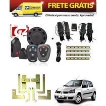 Kit Renault Clio 4 Portas Alarme Tw20p + Trava Eletrica