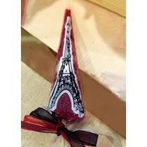 Conos De Celofán Decorados Torre Eiffel Vintage Mesa Dulces