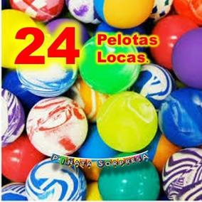 24 Pelota Loca Economico Juguete Piñata Cumple Regalo Premio