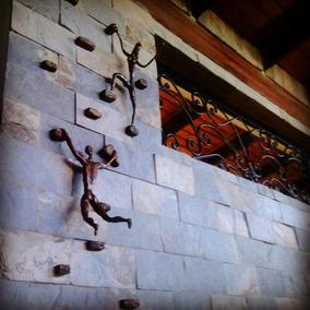 Escultura Escaladores Escaladoras 3d Alto Relieve Gorditas
