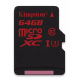 Cartão Micro Sd Sdxc Kingston 64gb C10 90mb/s Uhs-3 Original
