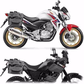 Bolsa Alforge Lateral Para Moto Nylon Universal Mala Lateral