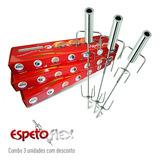 Espetoflex Combo Com 3 Espetos Giratórios Movidos A Pilha