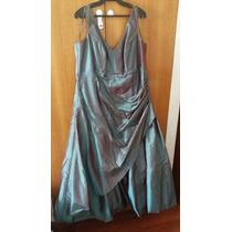 Vestido Gala Verde Tornasolado Irol - Talla Grande