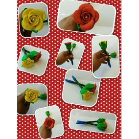 Dia Das Mães Kit Com 10 Canetas Decorada Em Eva (n02)
