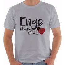 Camiseta De Engenharia Civil Universitária Personalizadas