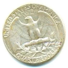 M95 1rara Moeda Americana Quarter Dollar 1962 Rara