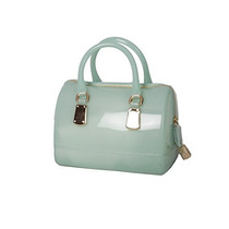 Furla Candy Galleta Mini Pvc Satchel, Aqua Gelata/pálido Az