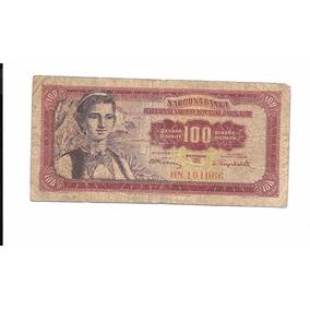 Liquido Billete De Yugoslavia. 100 Dinar 1955