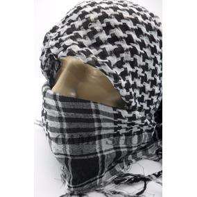 Lenço Palestino Xadrez Algodão/poliester 1m X 1m