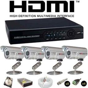 Sistema Vigilancia 4 Cameras Showcel 1800 Linhas Hd 320gb