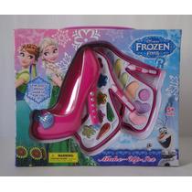 Kit Estojo De Maquiagem Infantil Disney Frozen C/17 Itens