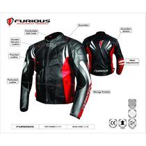 Chamarra Para Motociclista Caballero Piel Furious Clone