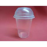 Vaso Plástico Frappé Descartable 325 Cc + Tapa Domo (x 100)