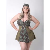 Fantasia Militar Camuflada Erótica Sensual Sexy Feminina