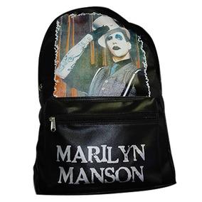 Mochila - Marilyn Manson Warner - Rock - Eco Cuero - Envios