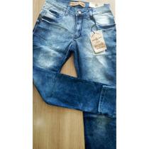 Calça Jeans Masculina Skinny Lycra Manchada 1183