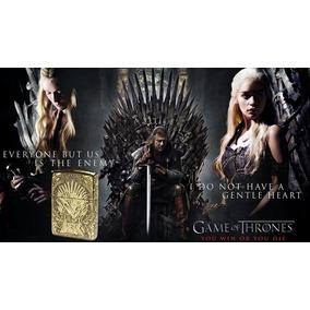 Isqueiro Lindo Game Of Thrones Guerra Dos Tronos Dourado Hbo