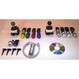 Kit Mame Arcade Multijuego Usb +2 Palancas +18 Botones