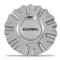 Calota Centro Miolo Roda Kr1560 Prata Emblema Kromma