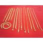 Kit 10 Semi-jóias Correntes E Pulseiras Aço Folheado À Ouro