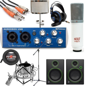 Presonus Audiobox Paquete Completo De Grabacion Bonus !