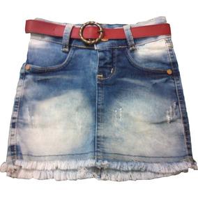 Saia Jeans Feminina Com Lycra Infantil