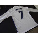 Camiseta Manga Larga Real Madrid 2016 2017 Ronaldo James Ucl