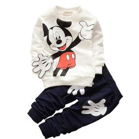 Conjunto Infantil Mickey Pronta Entrega Calça E Camisa Longa