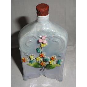 Antigua Botellita De Porcelana Decorada