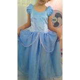Fantasia Disney Infantil Vestido Princesa Cinderela Festa