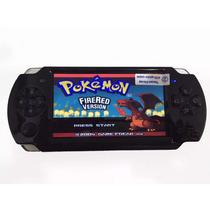 Video Game Portátil Mp3 Tipo Psp 8 Gb Com Pokemon Fire Red