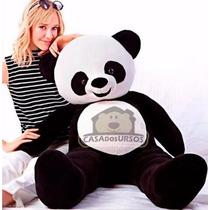 Urso Panda Bicho De Pelúcia Gigante 120 Cm 1,20 Mts Grande