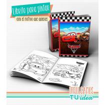 Cars - Librito Colorear Cars Para Imprimir