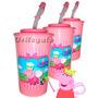 Vasos Con Pitillo Infantiles Para Cotillones Rifas O Regalos